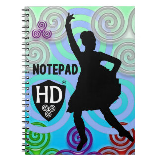 Highland Dancer Notepad #1 Notebook