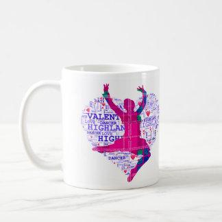 Highland Dancer Valentines Mug #1