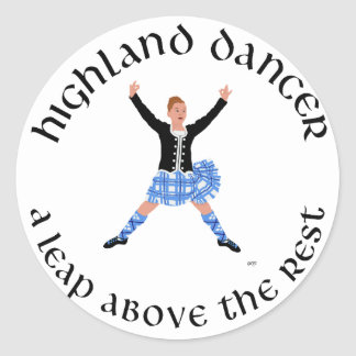 Highland Dancers - a Leap Above the Rest Classic Round Sticker