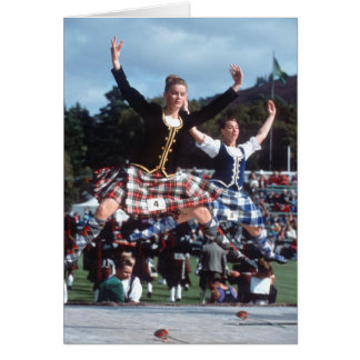 Highland Dancing Card
