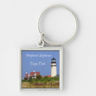 Highland Lighthouse Cape Cod Silver Key Chain