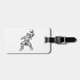 highland lion luggage tag
