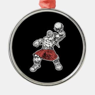highland lion metal ornament