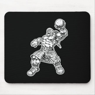 highland lion mouse pad