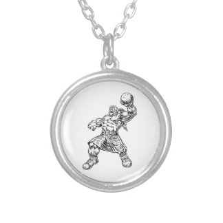 highland lion silver plated necklace