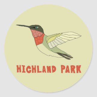 Highland Park Classic Round Sticker