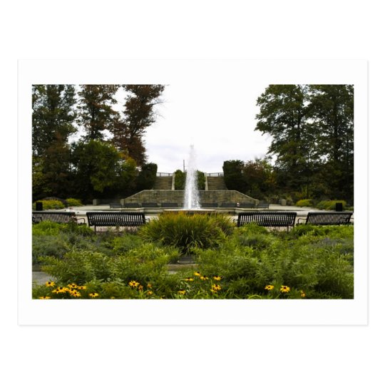 HIghland Park Fountain, Pittsburgh, PA Postcard