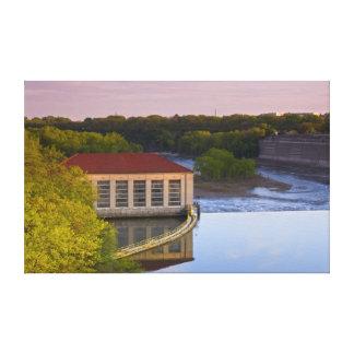 Highland Park Powerhouse and Dam Card Canvas Print