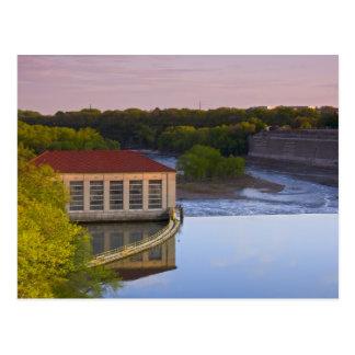Highland Park Powerhouse and Dam Postcard