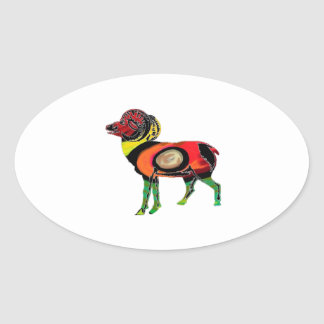 HIGHLAND PATTERNS OVAL STICKER