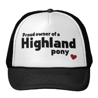 Highland pony trucker hat