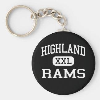 Highland - Rams - High - Salt Lake City Utah Basic Round Button Keychain
