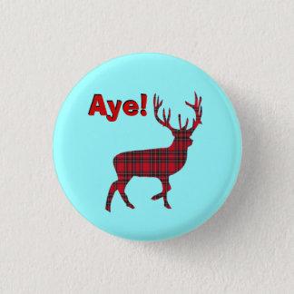 Highland Stag Scottish Independence Pinback 1 Inch Round Button