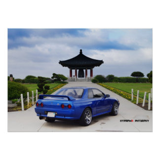 """Highlander"" Nissan GT-R R32 Skyline Poster"