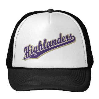 Highlanders in Purple and Gold Trucker Hat