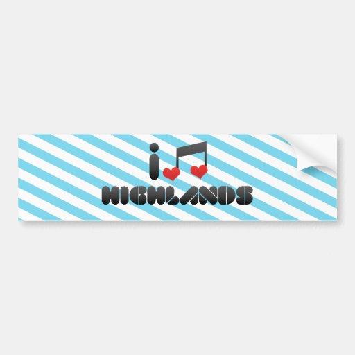 Highlands fan bumper sticker