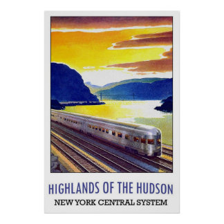 Highlands Of The Hudson New York Central System Poster