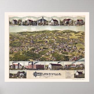 Highlandville, MA Panoramic Map - 1887 Poster