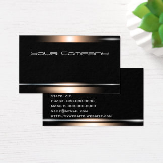 Highlight Bronze Black Professional Business Card
