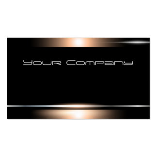 Highlighted Bronze Black Corporate Business Card
