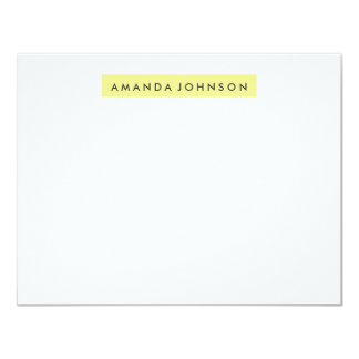 Highlighter A2 Stationery - Lemon Yellow Card