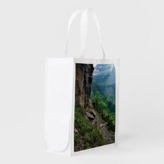Highline Trail Glacier National Park Montana Grocery Bags