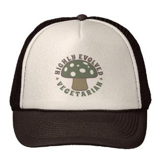 Highly Evolved Vegetarian - Eat Mushrooms! Camo Trucker Hat
