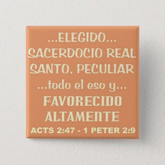 HIGHLY FAVORED© BtnESP 2 Inch Square Button