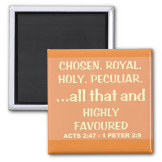 Highly Favoured  Eng Square Magnet