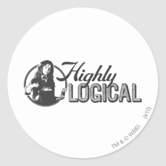 Highly Logical Round Sticker
