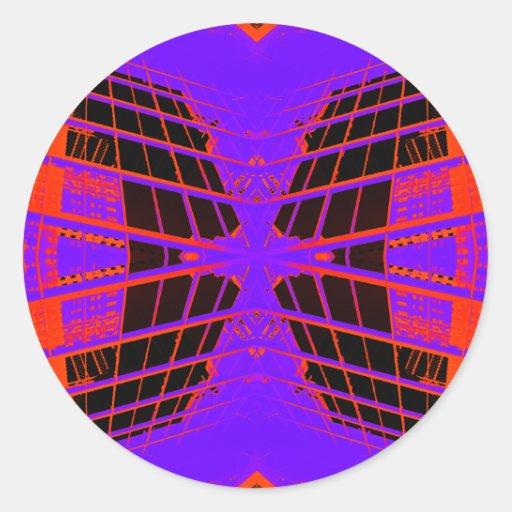 Highly Visible Bright Orange Purple Extreme Design Sticker