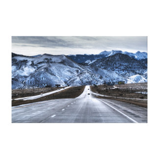 Highway 15 in winter canvas print