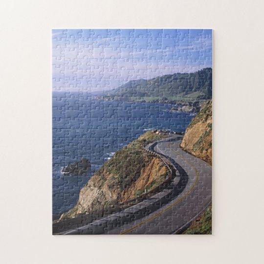 Highway 1 along the California Coast near Jigsaw Puzzle