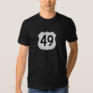Highway 49 Route Sign Tshirts