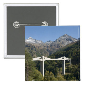 Highway bridge in the Alps 2 Inch Square Button