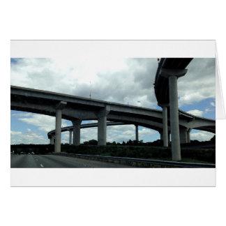 Highway Bridges, painting, Greeting Card