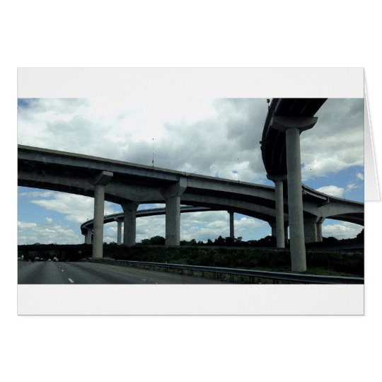 Highway Bridges, painting, Greeting Card