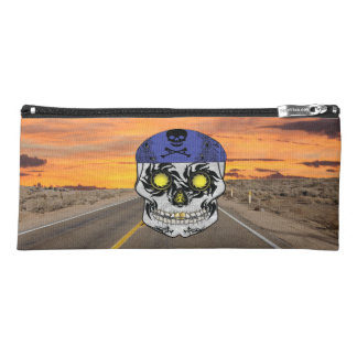 Highway Harley Biker Candy Skull Pencil Case