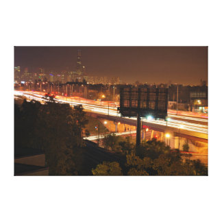 Highway I94 to Downtown Chicago Skyline Canvas Print