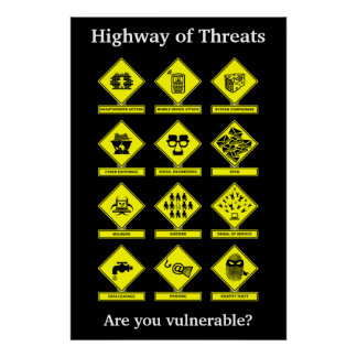 Highway of Threats Security Awareness Poster