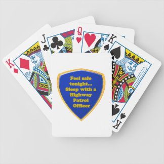 Highway Patrol Officer Bicycle Playing Cards