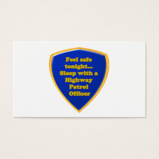 Highway Patrol Officer Business Card