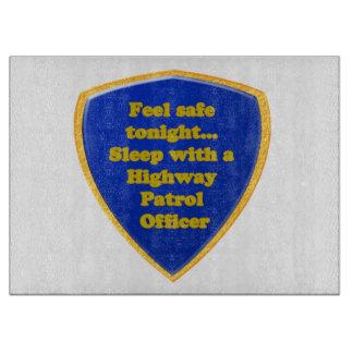 Highway Patrol Officer Cutting Board