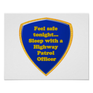 Highway Patrol Officer Poster