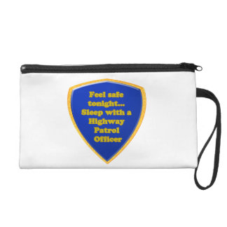 Highway Patrol Officer Wristlet Purse