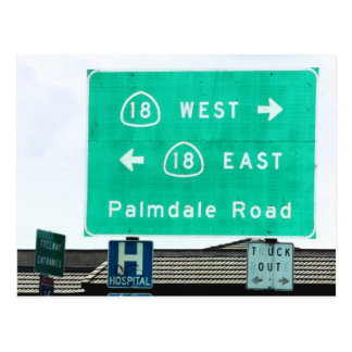 Highway Sign - CA-18 Palmdale Rd Postcard