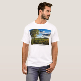 Highway Sunflower Field T-Shirt