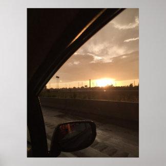 Highway Sunrise Poster
