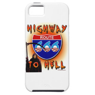 Highway To Hell Route 666 - Round iPhone 5 Covers