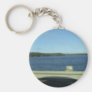 Highway Water Scene Keychain
